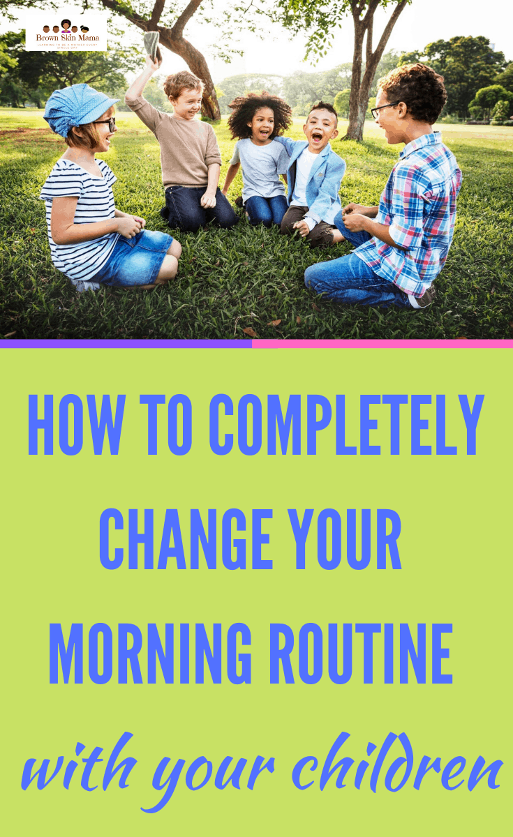 6 steps to improve your morning routine whilst raising kids. These tips are great for mom to start the morning a little better.