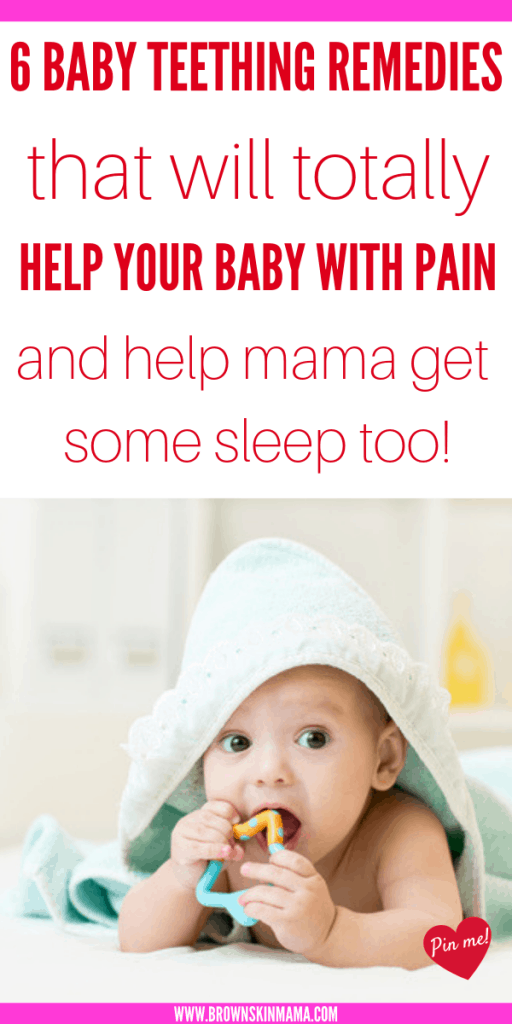 When your baby starts teething it can be quite a tough time for both mom and baby. There are some great natural pain relief remedies that you can use to help you both.