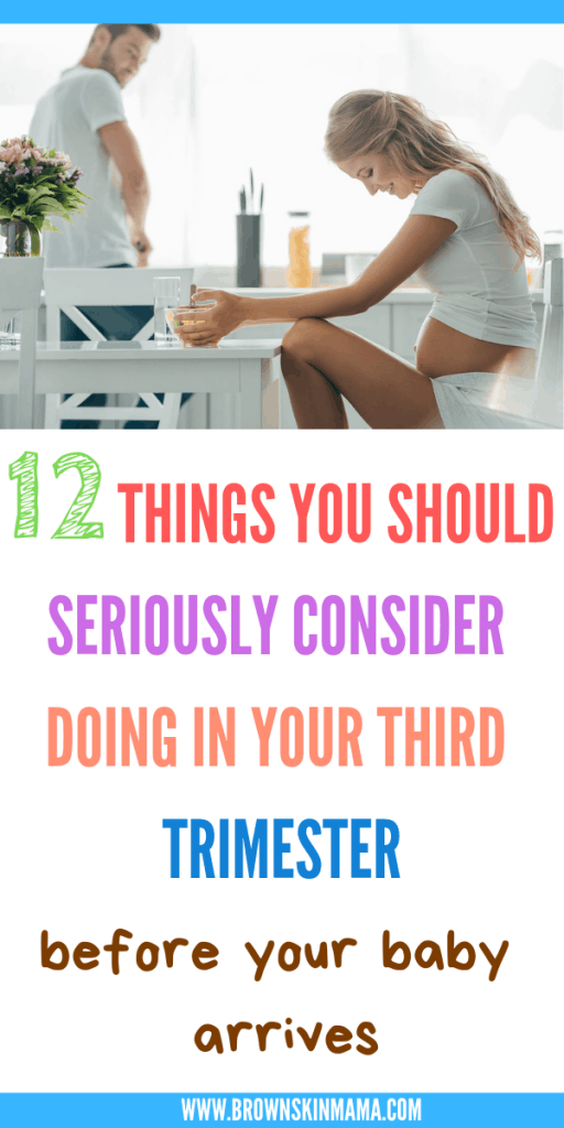 Things to do in your third trimester whilst you wait for labor to start. These 12 tips will keep you busy in your final trimester of pregnancy.