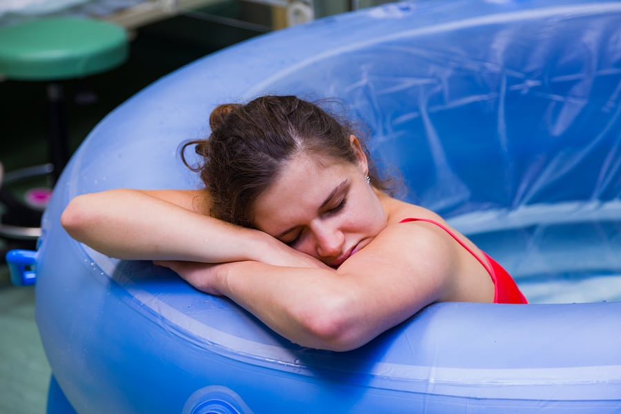 Water birth to control pain to help with the fear of giving birth