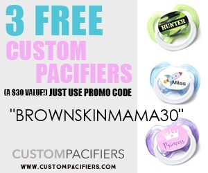 Custom pacifier - Free stuff for mom