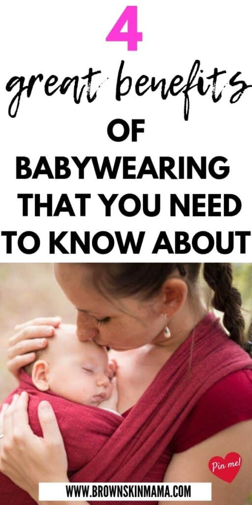 There are so many benefits in babywearing for both mom and baby. Find out the 4 benefits to baby wearing to get you ahead in motherhood