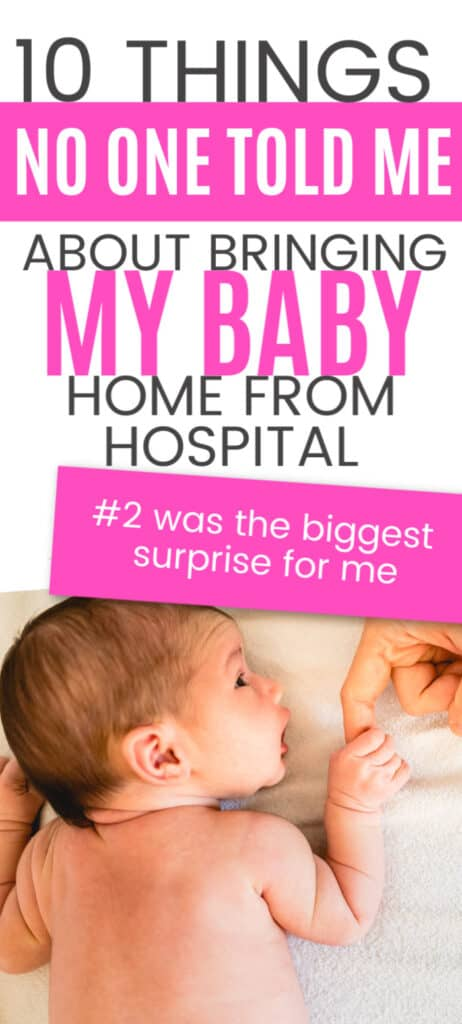 Bringing your baby home from hospital