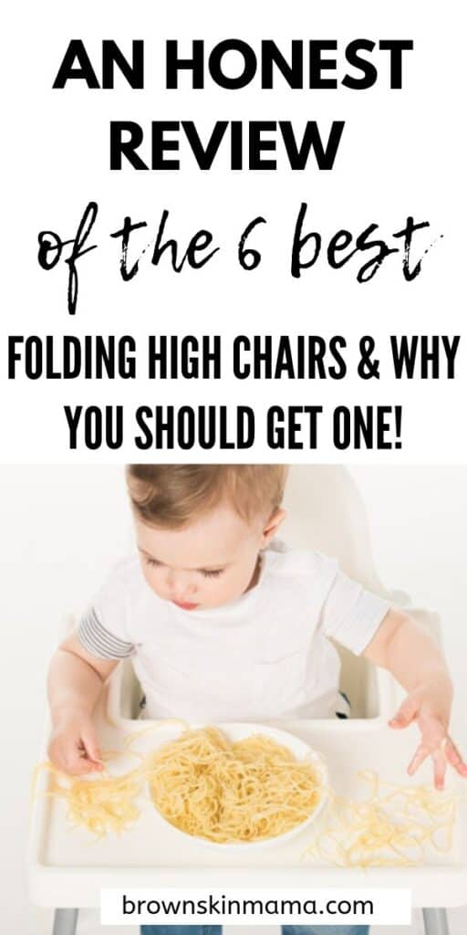 A review of the 6 best folding baby high chairs on the market which are perfect for your baby.