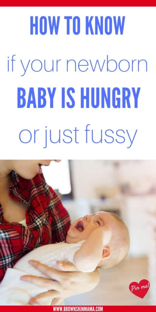 Baby hunger cues that you need to know about as a new mom. These are great tips that you can use for breastfeeding your newborn.