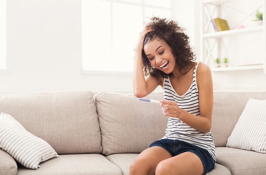 Positive pregnancy test