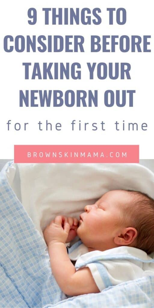 Things to consider before taking your newborn out for the first time